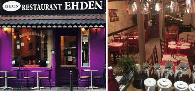 La façade du restaurant libanais Ehden à Paris 10eme