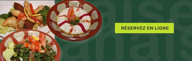 Réservez dès maintenant en ligne votre table et bénéficiez de notre remise de sur nos spécialités libanaises. Voir conditions.